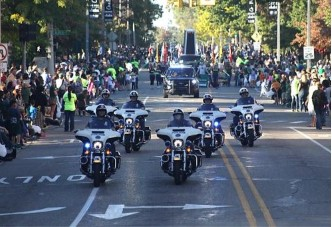 Police Motor Unit at Parade